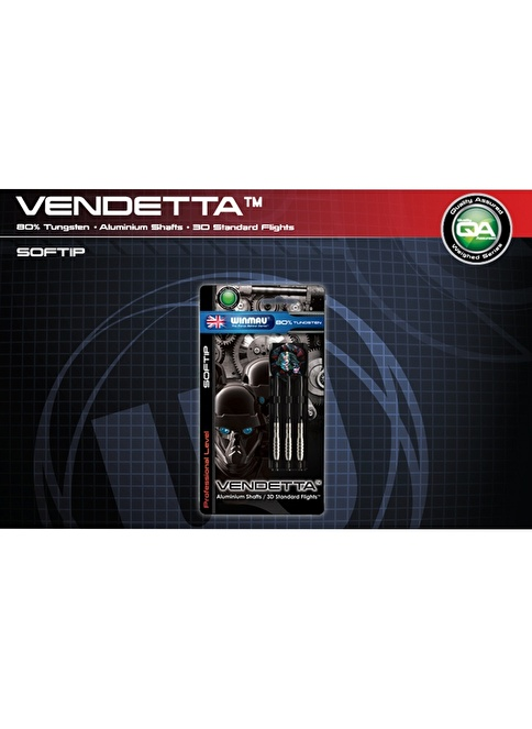 Winmau Vendetta %80 Tungsten Plastik Uçlu Dart-18 Gram Renkli